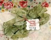 Hand Dyed Seam Binding Ribbon Fern Leaf