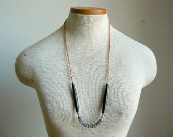 Ready to Ship- Labradorite and Horn Strand Necklace