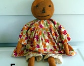 Primitive Pumpkin Raggedy doll prim Halloween