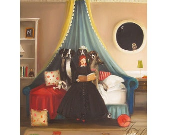 Miss Moon Was A Dog Governess. Lesson Six:  Don't Be Afraid Of The Dark.  The Creatures Of The Night Are ......