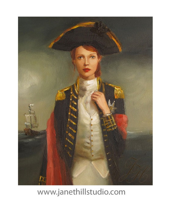 Portrait- Her Face Launched A Thousand Ships- Art Print