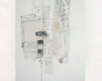 Minimalist Decor. Industrial Decor. Abstract Painting. Abstract Art. Mixed Media.  Abstract. Silent Momento 7  Paris Venice & Spain. White.