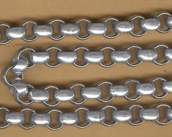 """vintage aluminum chain, great for charm necklaces and easily attachable 16"""" chain lightweight"""