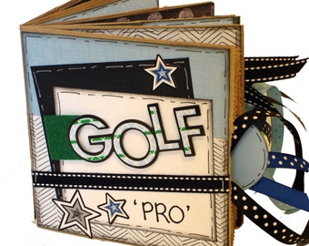 Golf Scrapbook -  Sports Paper Bag Album