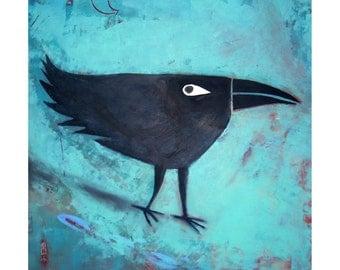 Cool Raven / Crow Giclee Print