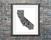 California typography map...