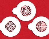 Celtic Knots Stencil Set for Cookies, Cakes & Cupcakes - Designer Stencils (C317) face painting