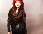 My Love Rasta chunky lace cowl scarf open end Vegan Boho Wood black espresso taupe