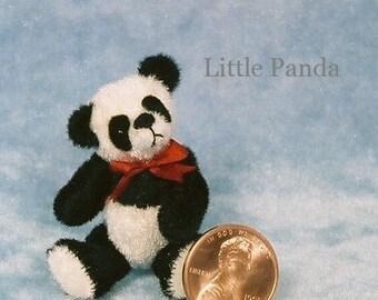 Panda Bear Miniature Teddy Bear Kit - Pattern - by Emily Farmer