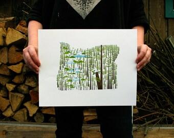 Oregon state print 11x14
