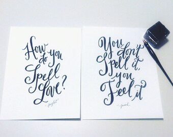 "How Do You Spell Love - Set of 2 5x7"" prints"