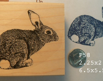 P58 rabbit, bunny  rubber stamp