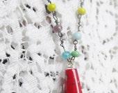 SALE Antique 1920's Venetian Festive Handblown Beaded Flapper Necklace Was 95.00 Now 84.99