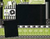 12x12 Premade Football Layout - Go Team Go
