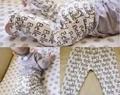 Personalized Custom Name Baby/Toddler Leggings - Organic Cotton Knit