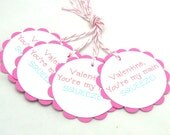Valentine You're My Main Squeeze Favor Tags - Set of 4 Tags