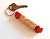 Oak Wood Name Keychain, D...