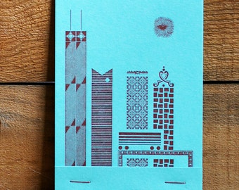 Chicago Skyline Mini Matchbook Notebook