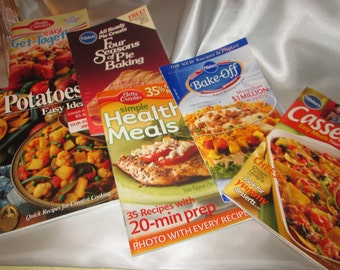 Varity of 6 Cook Books with Pillsbury and Betty Crocker Recipes