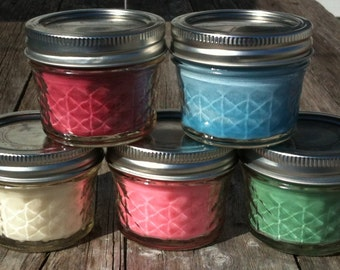 4 Oz Wood Wick  Soy Candle Choose your Scent