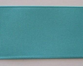 "Grosgrain Ribbon Deep Aqua- 50 yds 1 1/2"" wide"