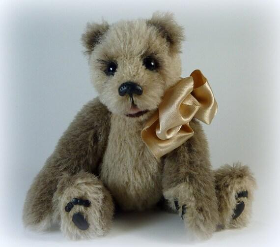 Artist Handmade Alpaca Teddy Bear, 6 Inch Sidney by Custom Teddys
