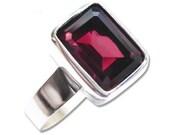 Rhodolite Garnet Ring 14K White Gold Engagement Ring