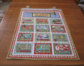 12 Joys of Christmas Quilted Wall Hanging
