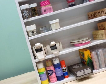 Adjustable Shelf Organizer for craft supplies and more
