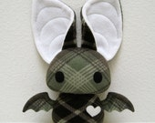 Dexter the Bat in Green and Brown Plaid