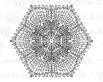 Mandala Printable Coloring Page - Instant Digital Download JPG