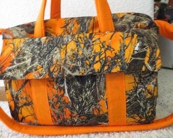 True Timber  orange Camo Diaper Bag w/change pad by EMIJANE