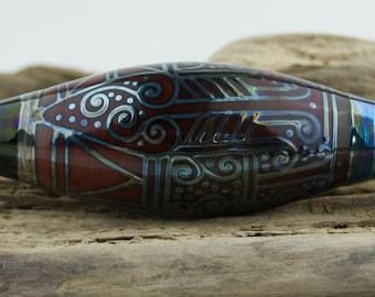 Alive Glass -  Coral / Triton Wide Bicone - Pilchuck Bead
