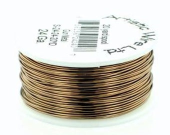 Antiqued Brass Wire, 6yd, Perm Colored, 20 Gauge (.81mm), Artistic Wire, Wire Wrapping, BM-AWAB20-006-001