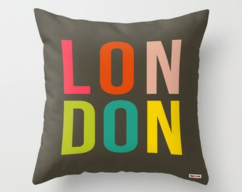 London Decorative throw pillow cover -  Modern pillow cover - Designer pillow case - City pillow case - Europe pillow cover