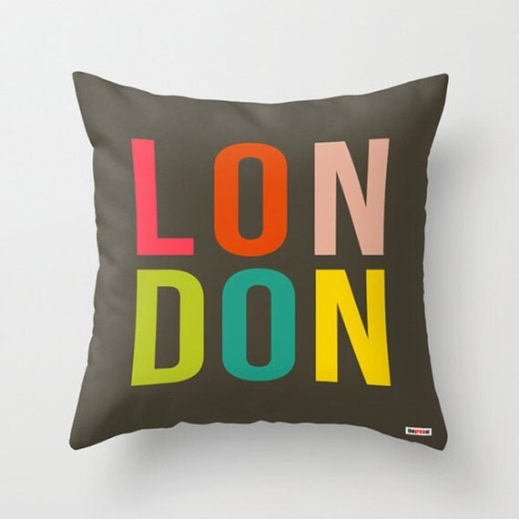 Items Similar To London Decorative Throw Pillow Cover