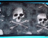 Sparkly Pirate Ghosty Skulls Zipper costmetic pouch spooky