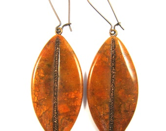 Polymer Clay Earrings - Southwestern Landscapes Collection - Copper Flash Earrings