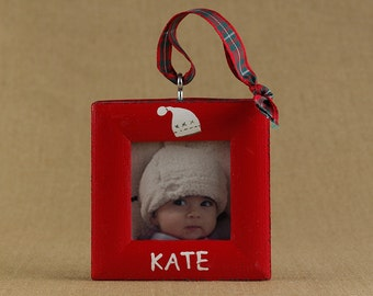 winter hat picture frame ornament