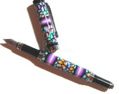 Traditional fountain pen polymer clay millefiori design FP106