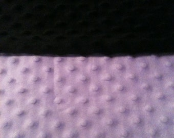 Minky Blanket- Lavender and Black  35 x 30