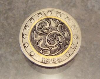 Hand Engraved Hobo nickel by Jack