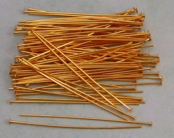 2 Inch Head Pins, Gold, 100 pieces, AG247
