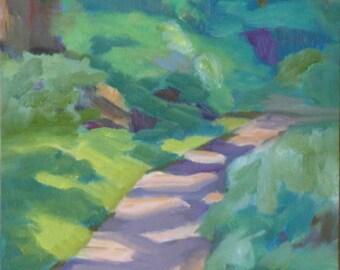 Landscape Oil Painting:  Woodland Trail  6 x 9