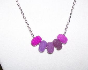 5 Shades of Purple Necklace
