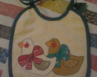 Baby Bib Terry Cloth Ducks