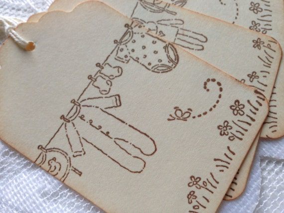 New Baby Boy Gift Tag : Vintage inspired new baby gift tags shower favour tag
