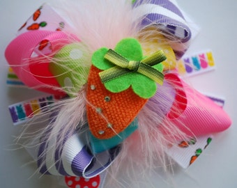 boutique MINI mod EASTER BASKET hair bow clip