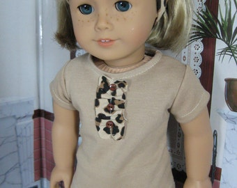 18 inch Doll Clothes Leopard Print Capri Outfit