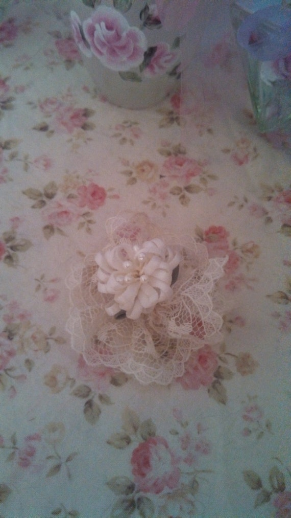Shabby cottage chic dog bow grooming chi maltese yorki for Shabby chic dog